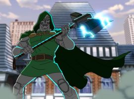 Doctor Doom steals an ancient Asgardian weapon in Marvel's Avengers Assemble