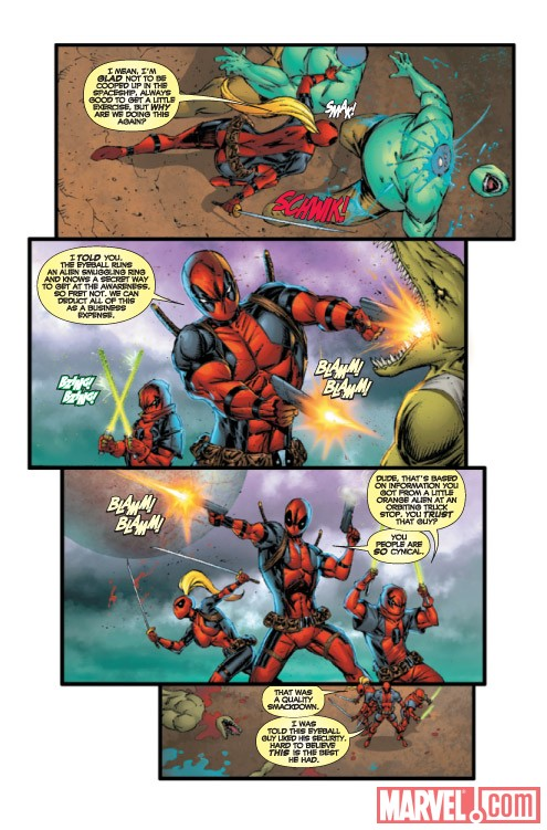 DEADPOOL CORPS #4 preview art by Rob Liefeld