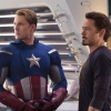 Chris Evans and Robert Downey, Jr. star as Captain America and Tony Stark/Iron Man in Marvel's The Avengers