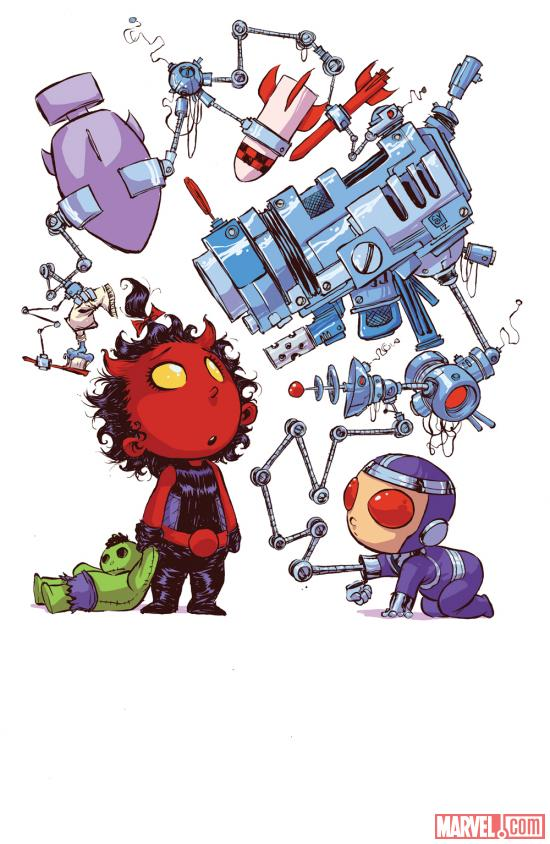 Red She-Hulk #58 Baby Variant cover by Skottie Young