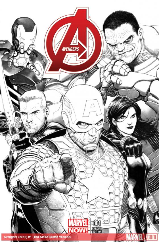 cover from Avengers (2012) #1 (TBD ARTIST SKETCH VARIANT)