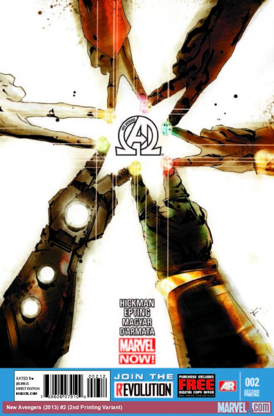 NEW AVENGERS 2 2ND PRINTING VARIANT