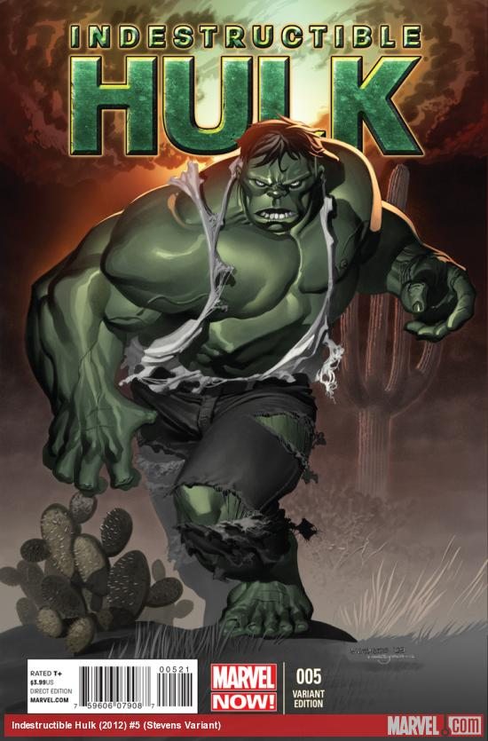 INDESTRUCTIBLE HULK 5 STEVENS VARIANT (NOW, 1 FOR 50, WITH DIGITAL CODE)