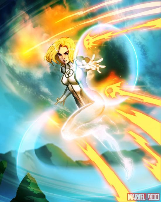 Invisible Woman card art by UDON from Marvel War of Heroes