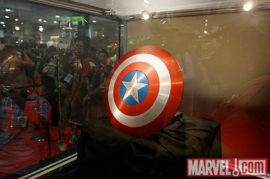 The shield from Captain America: The First Avenger at SDCC 2010