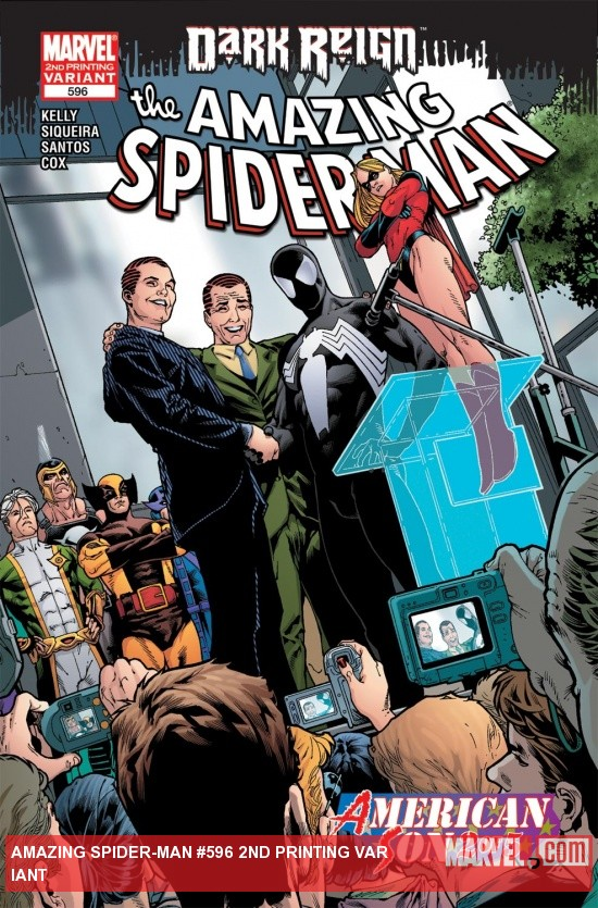 Amazing Spider-Man (1999) #596, 2nd Printing Variant