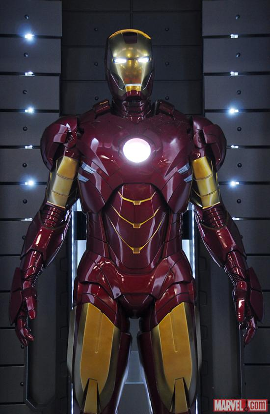 The Mark IV armor at the Marvel Booth at San Diego Comic-Con 2012
