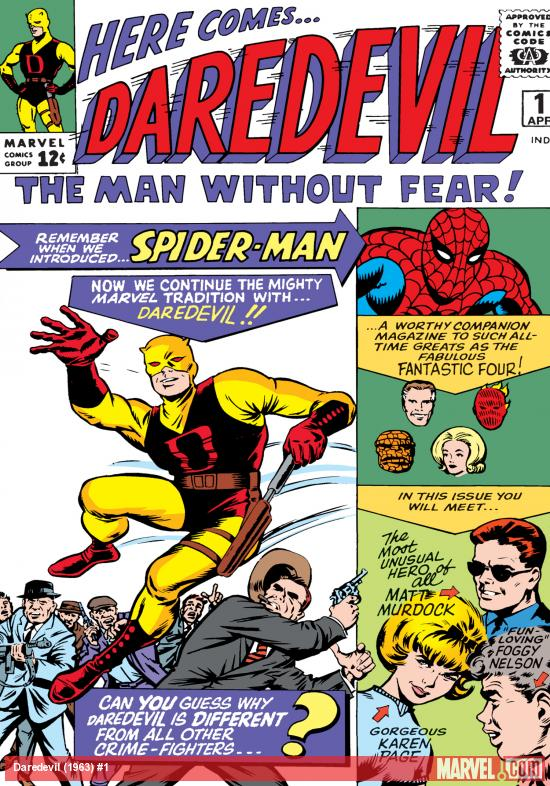 daredevil four series comic book cover