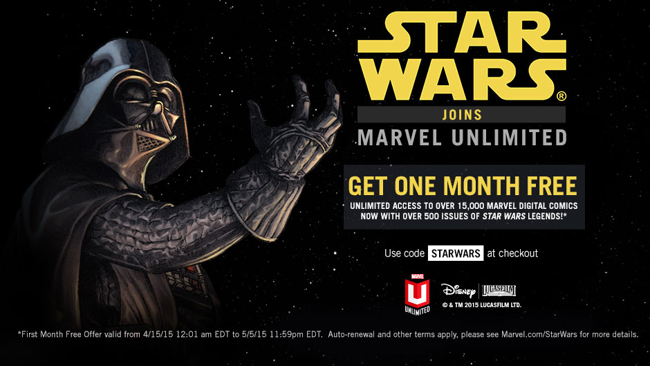 Star Wars joins Marvel Unlimited
