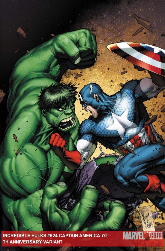Incredible Hulks (2009) #624, Captain America 70th Anniversary Variant
