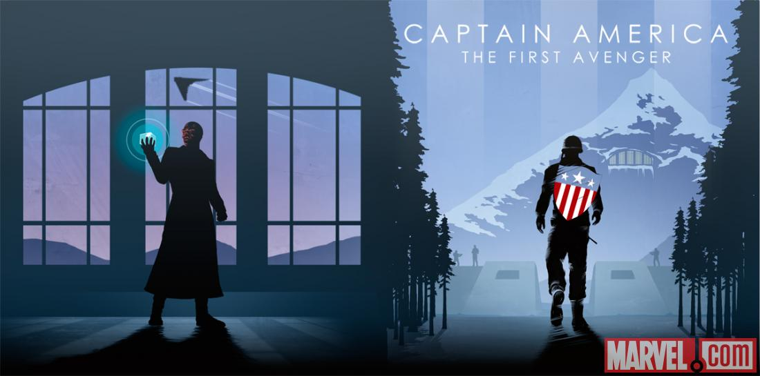 Captain America: The First Avenger Marvel Cinematic Universe box set sleeve art by Matthew Ferguson