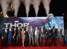 The cast & filmmakers of Marvel's Thor: The Dark World at the red carpet premiere in Los Angeles