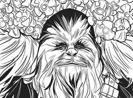Chewbacca #1 inks by Phil Noto