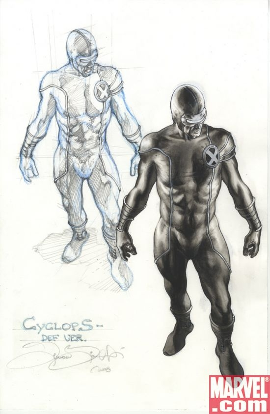 Cyclops sketch art by Simone Bianchi