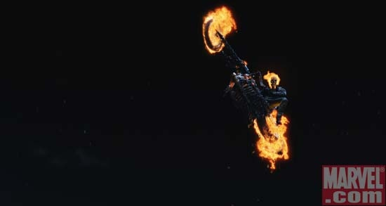 The Hellcycle flying