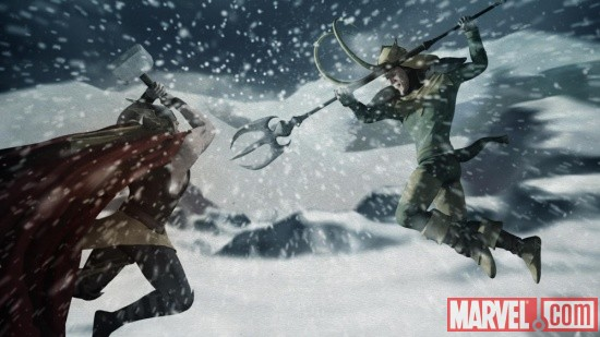 Screenshot of Thor and Loki from Thor & Loki: Blood Brothers