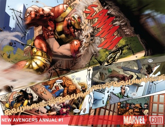 New Avengers Annual #1 preview art by Gabriele Dell'Otto
