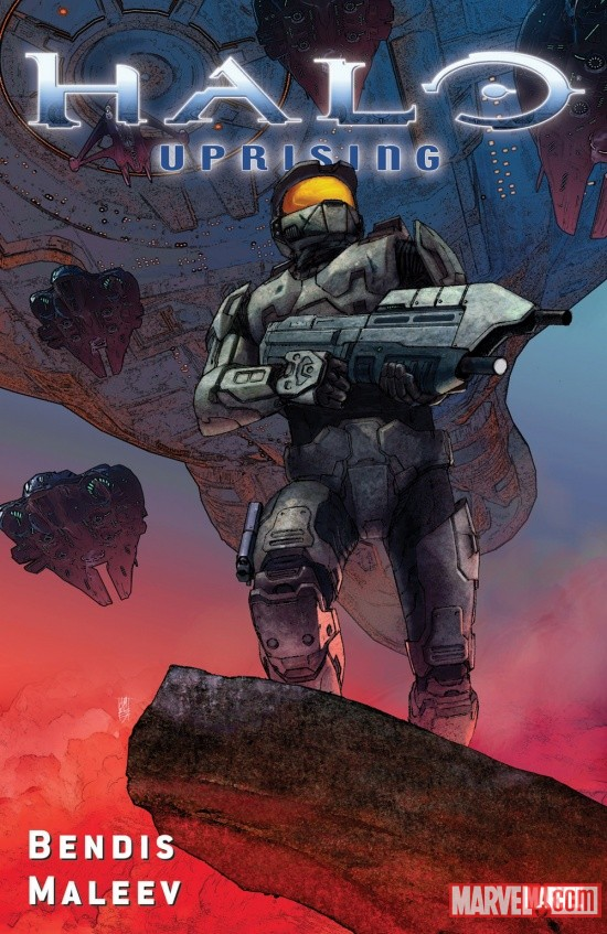 Halo: Uprising collection cover by Alex Maleev