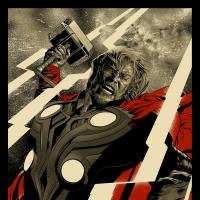 Marvels The Avengers Thor poster by Martin Ansin for Mondo