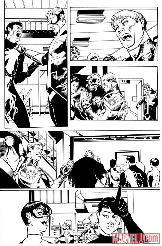 AVENGERS ACADEMY #5 black and white preview art by Jorge Molina 4