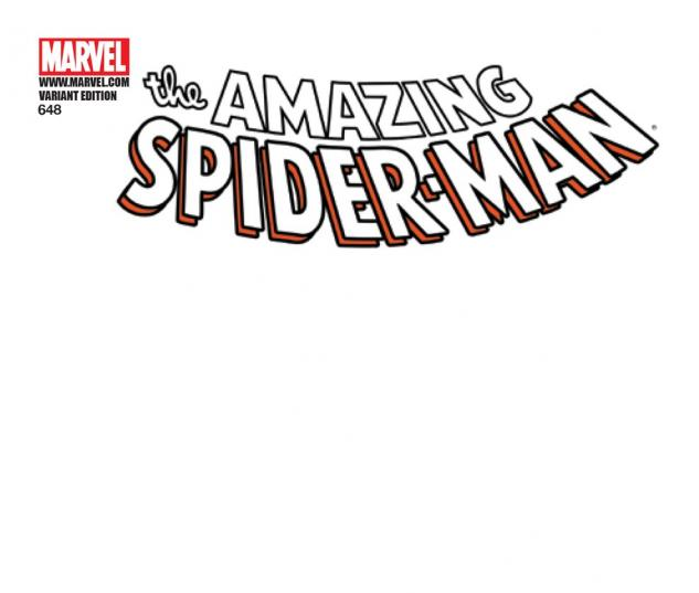 Amazing Spider-Man (1999) #648, Blank Cover Variant