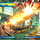 Screenshot of Nova vs. Viewtiful Joe in Ultimate Marvel vs. Capcom 3
