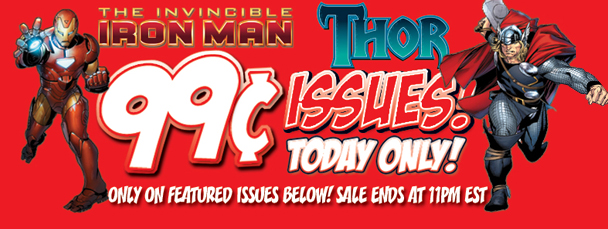 Marvel App: Get Iron Man & Thor Issues for 99¢