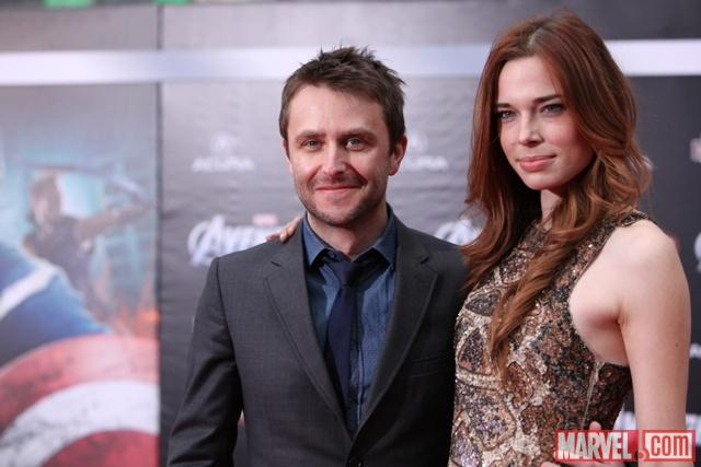 Comedian Chris Hardwick on the Avengers red carpet