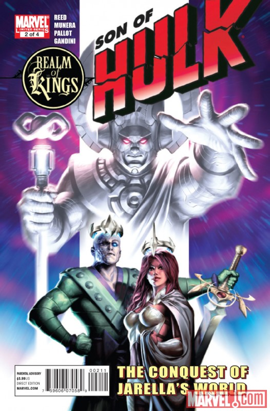 REALM OF KINGS: SON OF HULK #2 Cover by Alex Garner