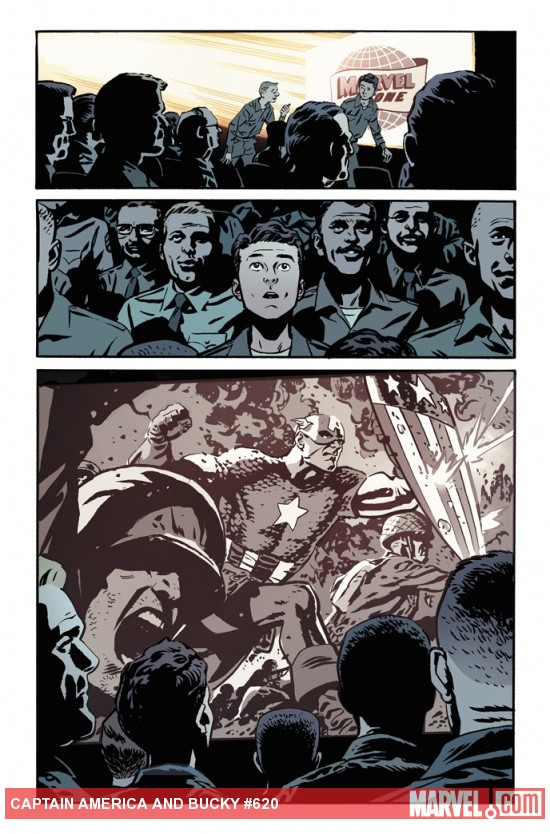 Captain America & Bucky #620 preview art by Chris Samnee