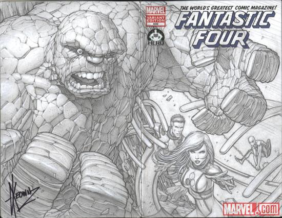 Fantastic Four #600 Hero Initiative variant cover by Dale Keown