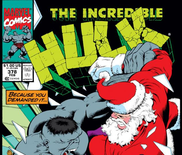 Incredible Hulk (1962) #378 Cover