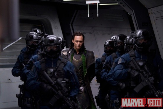 Tom Hiddleston stars as Loki in Marvel's The Avengers