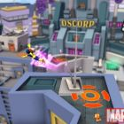 Screnshot of Marvel Girl flying from Super Hero Squad Online