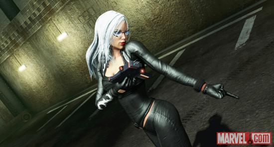 Screenshot of Felicia Hardy in the Amazing Spider-Man video game