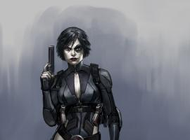 Domino concept art from the Deadpool video game
