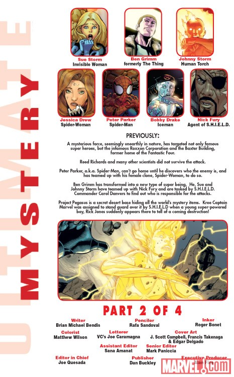 Ultimate Comics Mystery #2 recap page