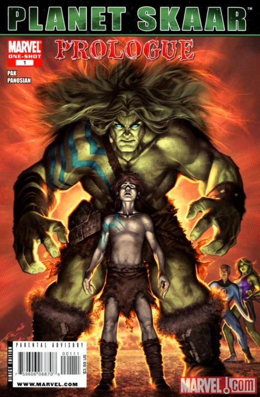 PLANET SKAAR PROLOGUE #1 cover by Alex Garner