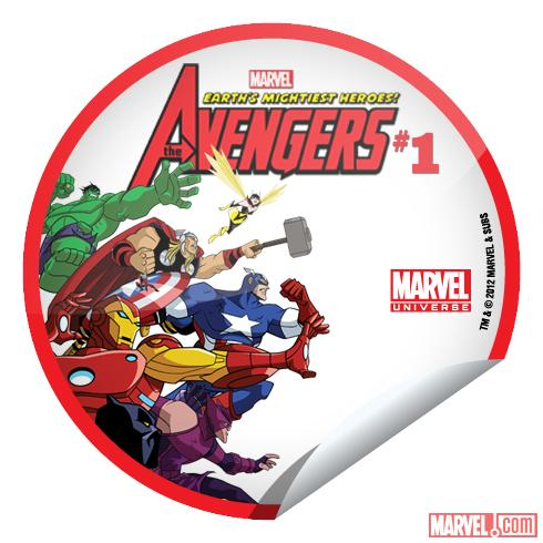 Marvel Universe: Earth's Mightiest Heroes #1 sticker