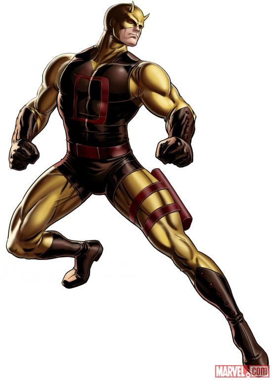 Daredevil (alternate costume) character model from Marvel: Avengers Alliance