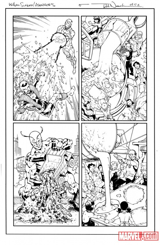 Spider-Man and the Avengers #1 preview inks