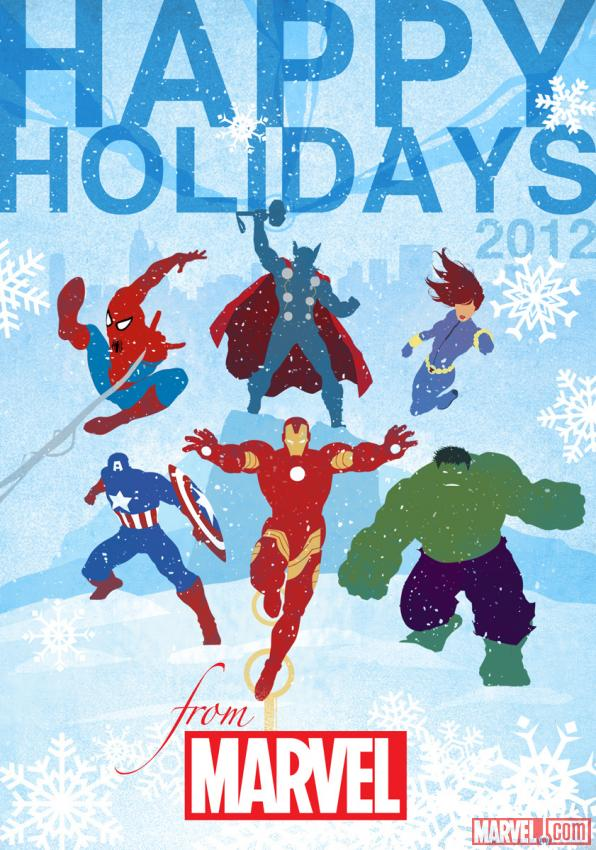 2012 Official Marvel holiday card