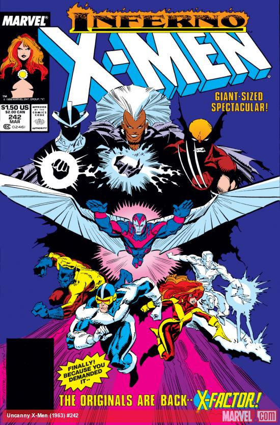 Uncanny X-Men (1963) #242 Cover