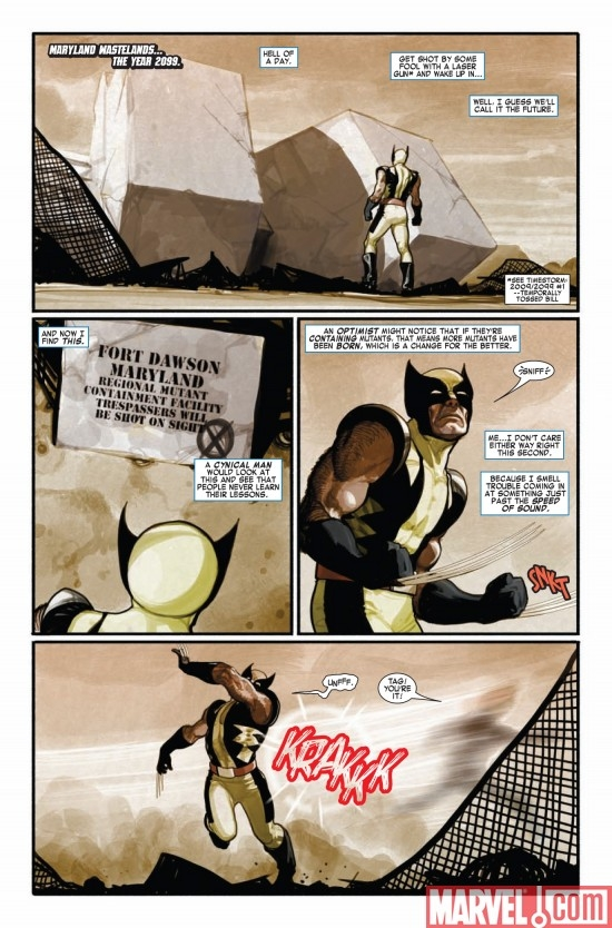 TIMESTORM 2009/2099: X-MEN #1, page 1