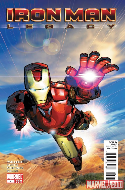 IRON MAN LEGACY #4 cover by Brandon Peterson