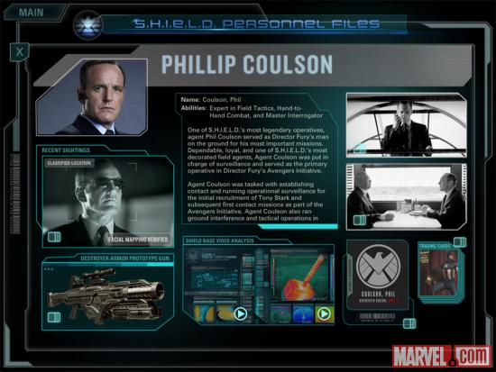 Screenshot of Agent Phil Coulson from the Second Screen Experience app