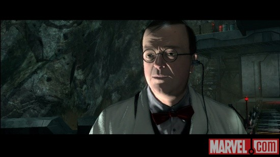 Screenshot of Arnim Zola from Captain America: Super Soldier