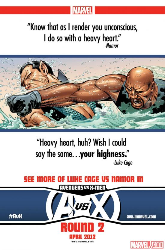 Avengers Vs. X-Men: Namor Vs. Luke Cage teaser by John Romita Jr.