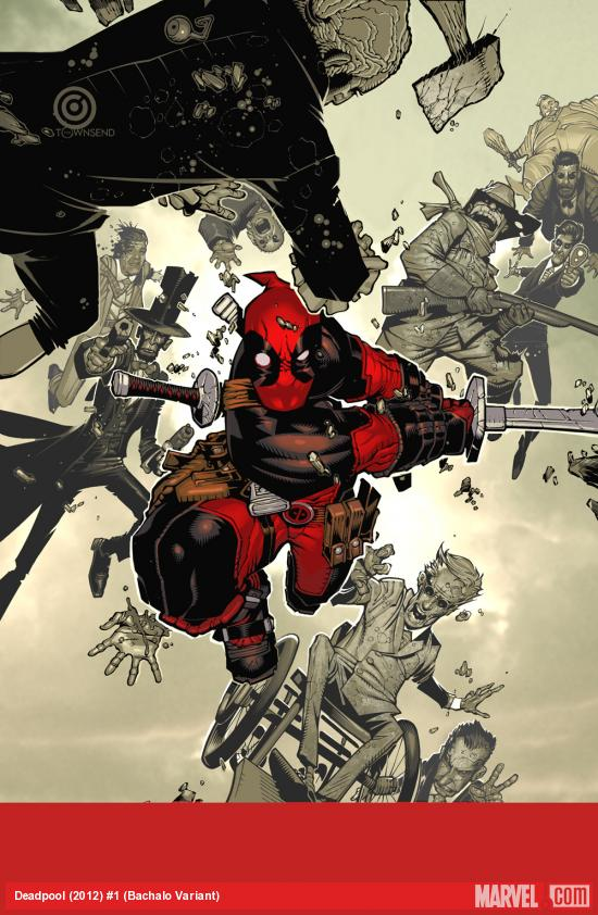 Deadpool (2012) #1 variant cover by Chris Bachalo