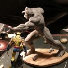 Wendigo prototype statue and Wolverine statue from Bowen Designs